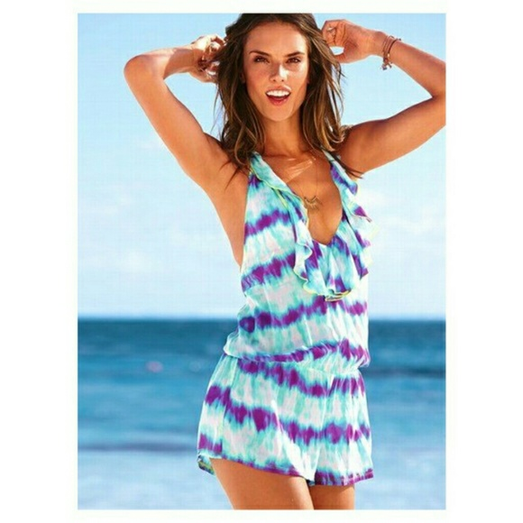3ef82c4dcebac Victoria's secret swimsuit cover up romper